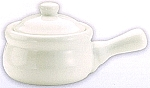 French Onion Soup Crock  White Porcelian  Set of 4