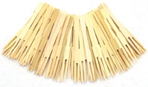 Bamboo Party Dip Forks (72pcs)