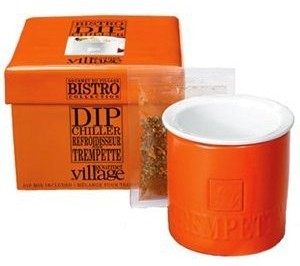 Burnt Orange Dip Chiller with dip - 1 Cup