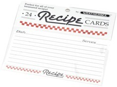 "Recipe Cards 3"" x 5"" (pack of 24)"