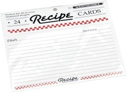"Recipe Cards 4"" x 6"" (Set of 24)"
