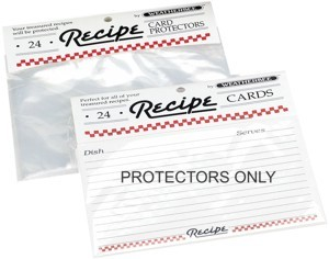 "Recipe Protectors 4"" x 6"" (pack of 24)"