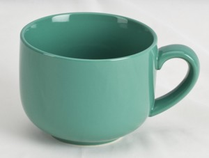 Jumbo Teal Soup Mug 24oz