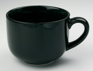 Jumbo Black Soup Mug 24oz